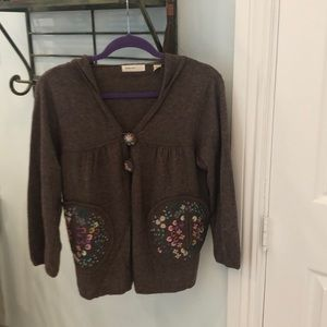 Anthropologie hooded cardigan sweater